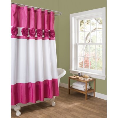 Decker Shower Curtain Color: Pink