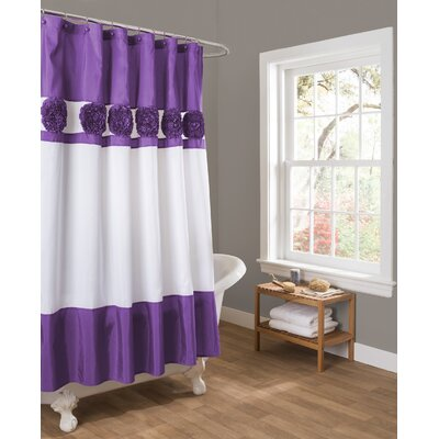 Decker Shower Curtain Color: Purple