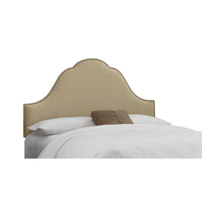 Danes Nail Button Arch Upholstered Panel Headboard