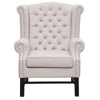 Sabion Wing Back Chair Color: Beige