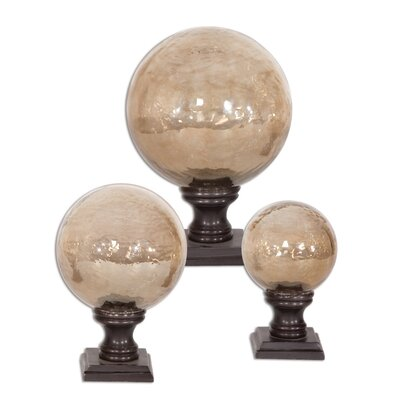 3 Piece Burke Finial Sculpture Set