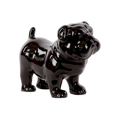 Kitt Ceramic British Bulldog Figurine Color: Black