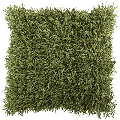 Beatrix Shag Throw Pillow Size: 22, Color: Fern Green, Filler: Down