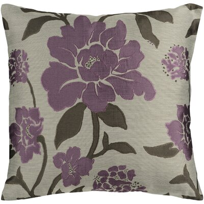 Beatrix Wild Throw Pillow Size: 18 H x 18 W x 4 D, Color: Plum/Gray/Beige, Filler: Polyester