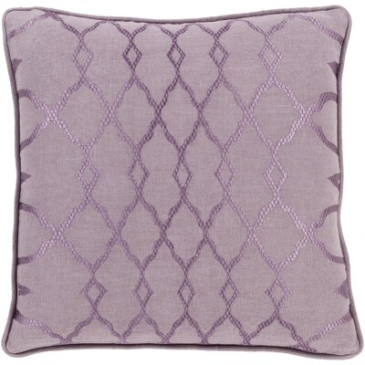 Dale Throw Pillow Size: 18 H x 18 W x 4 D, Color: Purple, Filler: Down