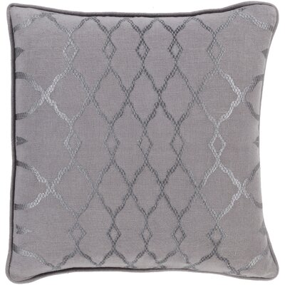 Beatrix Throw Pillow Size: 22 H x 22 W x 4 D, Color: Taupe, Filler: Down