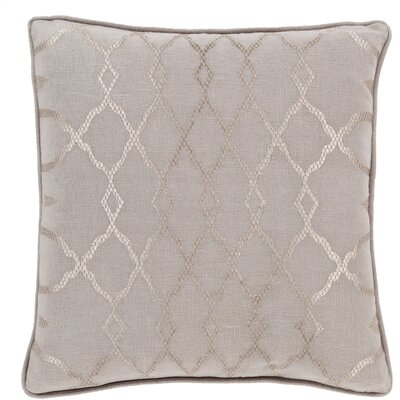 Dale Throw Pillow Size: 18 H x 18 W x 4 D, Color: Taupe, Filler: Down