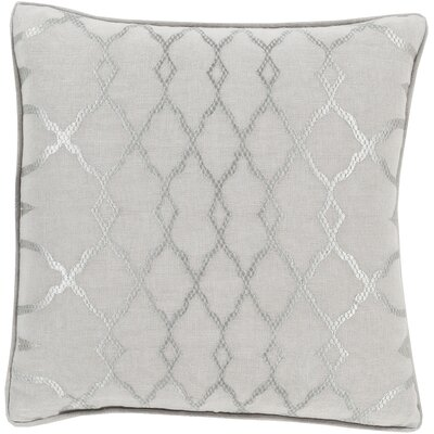 Dale Throw Pillow Size: 18 H x 18 W x 4 D, Color: Gray, Filler: Down