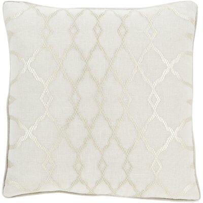 Dale Throw Pillow Size: 18 H x 18 W x 4 D, Color: Ivory, Filler: Down