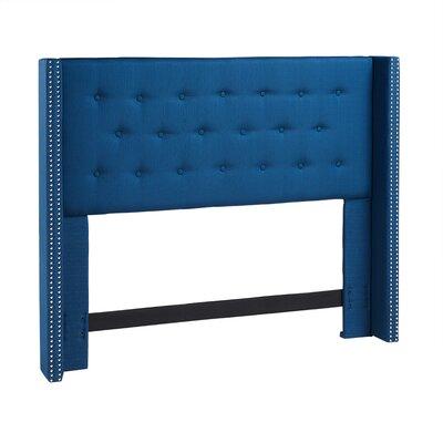 South Woodham Ferrers Upholstered Wingback Headboard Size: King/California King, Upholstery: Azure