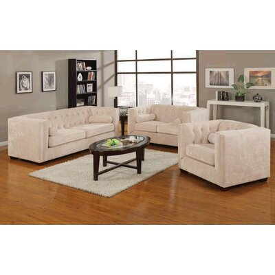 Willa Arlo Interiors WRLO6513 Dalila Wood Frame Living Room Collection