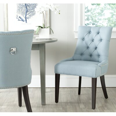 Mcdaniel Ring Upholstered Dining Chair Upholstery : Light Blue