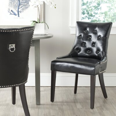 Mcdaniel Ring Upholstered Dining Chair Upholstery : Black