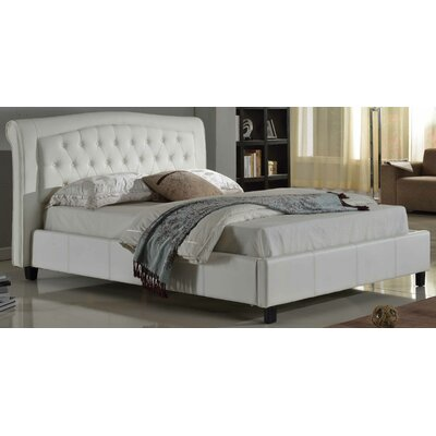 Guilherme Upholstered Platform Bed Size: Queen, Upholstery: White