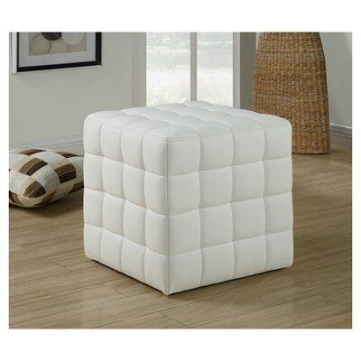 Hendrix Cube Ottoman Upholstery: White