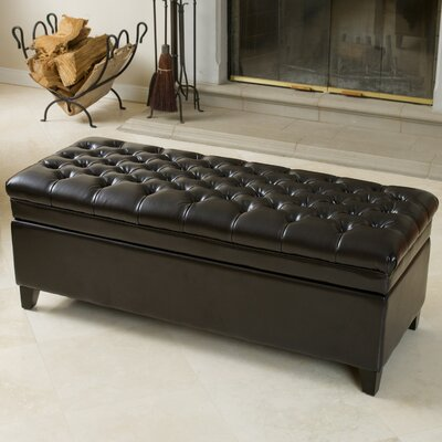 Hathaway Storage Ottoman Upholstery: Espresso