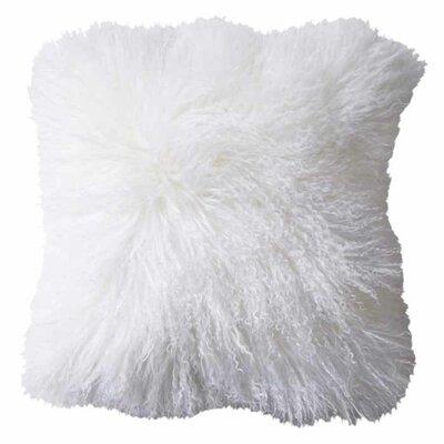 Dursley Sheepskin Throw Pillow Color: White
