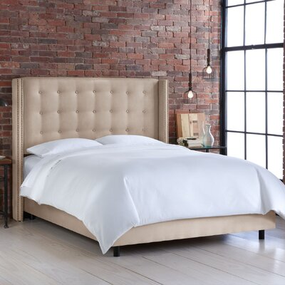 Hayworth Upholstered Panel Bed Size: King, Upholstery: Linen - Tangerine