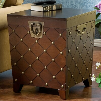 Evienne Nailhead Trunk End Table