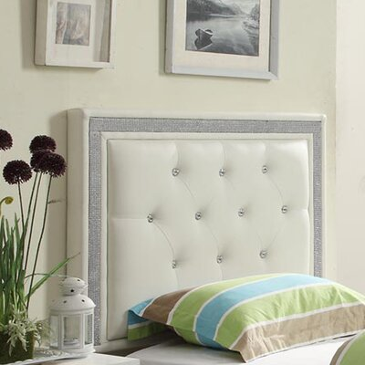 Hedda Upholstered Panel Headboard Size: Twin, Color: White