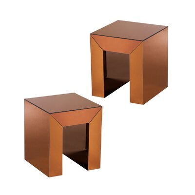 Kaliyah Square End Table Color: Bronze