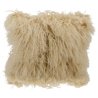 Springport Sheepskin Throw Pillow Color: Beige