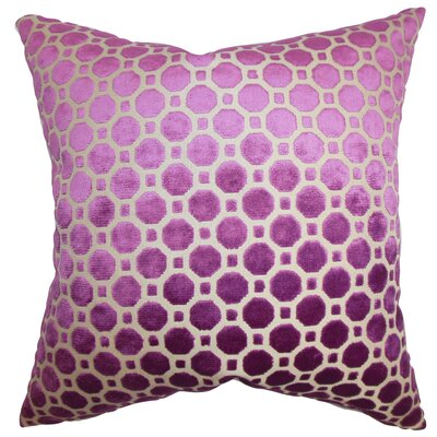 Alton Geometric Velvet Throw Pillow Color: Magenta, Size: 18 H x 18 W