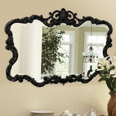 Barnoldswick Wall Mirror Finish: Glossy Black