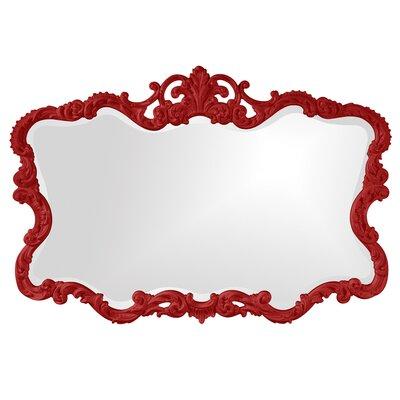 Barnoldswick Wall Mirror Finish: Red