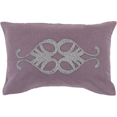 Ashington Beaded Lumbar Pillow Color: Eggplant, Filler: Down