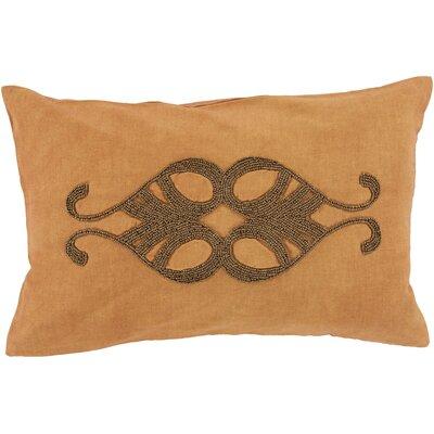 Ashington Beaded Lumbar Pillow Color: Burnt Orange, Filler: Down