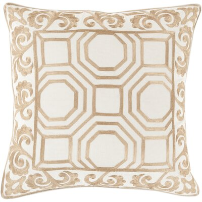 Aspatria Throw Pillow Size: 22 H x 22 W x 4 D, Color: Gold/Beige, Filler: Down