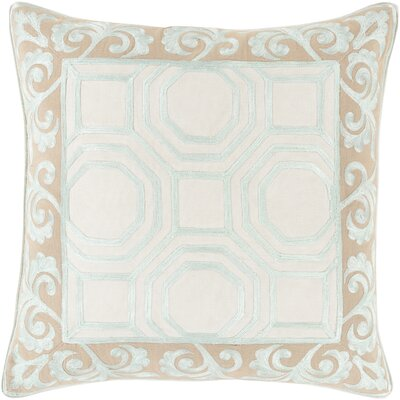 Aspatria Throw Pillow Size: 20 H x 20 W x 4 D, Color: Taupe/Mint, Filler: Down