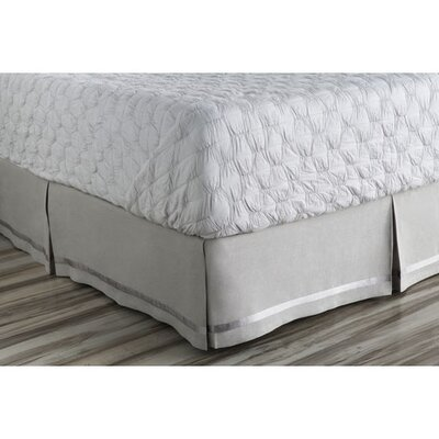 Barton-le-Clay Bed Skirt Color: Gray, Size: Full