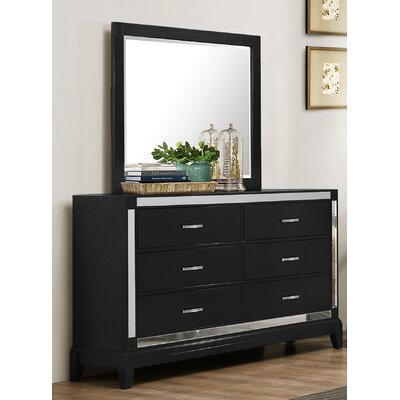 Simmons Casegoods Smethwick 6 Drawer Dresser with Mirror