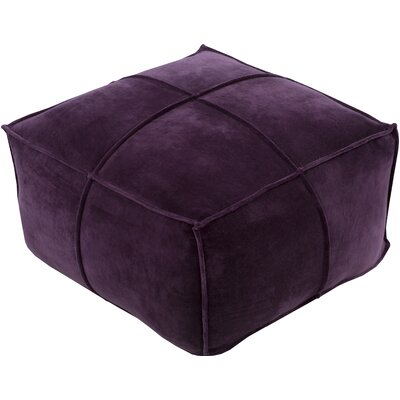 Colebrook Pouf Upholstery: Eggplant