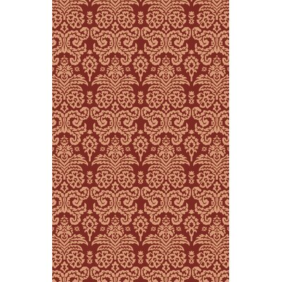 Batley Hand Woven Beige/Red Area Rug Rug Size: 4 x 6