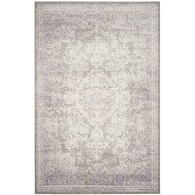 Becontree Gray/Lavender Area Rug Rug Size: Rectangle 3 x 5