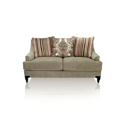 Verwood Premium Loveseat Upholstery: Light Gray
