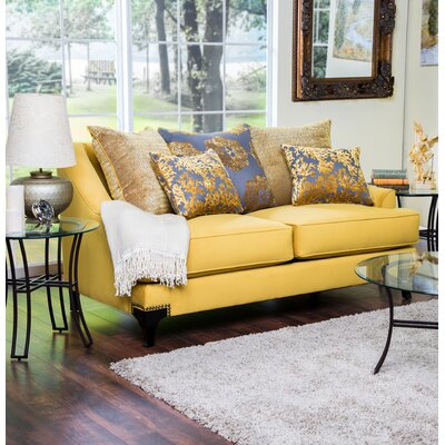 Verwood Premium Loveseat Upholstery: Gold
