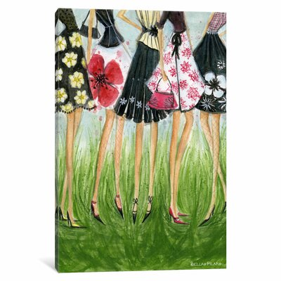 In Style Girls in Skirts by Bella Pilar Painting Print on Wrapped Canvas Size: 26
