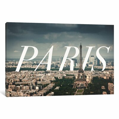 Paris Photographic by 5by5collective Print on Wrapped Canvas Size: 12