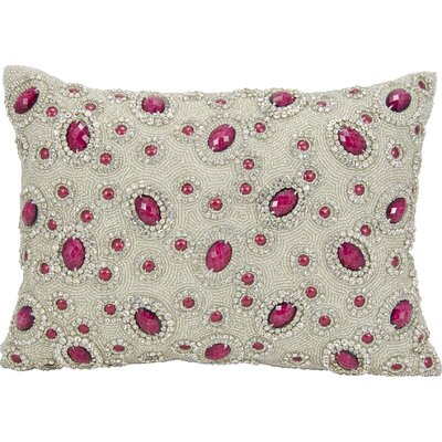 Surrey Rectangular Lumbar Pillow Color: Garnet
