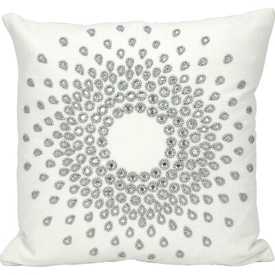 Gemstone Linen Throw Pillow Color: Silver