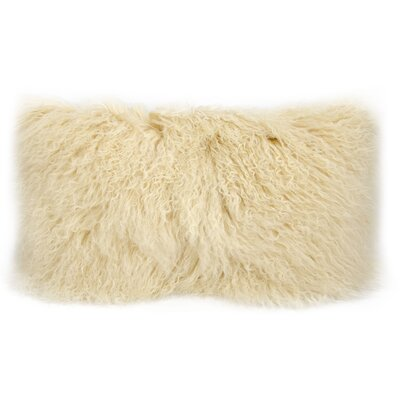 Surrey Faux Fur Lumbar Pillow Color: Beige