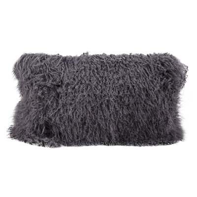 Surrey Faux Fur Lumbar Pillow Color: Silver Gray