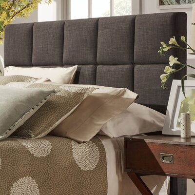 Redhill Upholstered Panel Headboard Upholstery: Dark Grey, Size: King