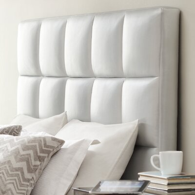 Redhill Upholstered Panel Headboard Upholstery: Silver, Size: King