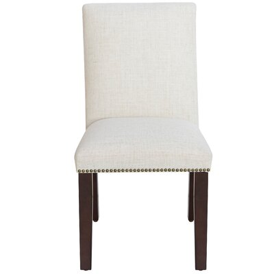 Glaucodot Parsons Chair in Linen Talc