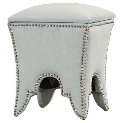 Patton Ottoman Nailhead Detail: Silver, Upholstery: Silver Sage